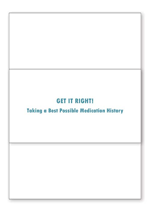 Get it right! How to take a best medication history