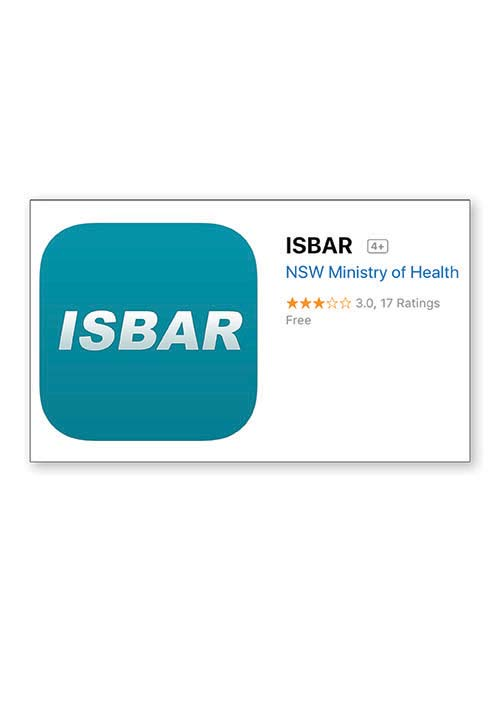 ISBAR app for IOS devices